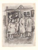 Georg Tappert (Berlin 1880 - 1957 ebendort) 'In der Altstadt', 1920er Jahre Lavierte