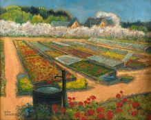Fritz Gärtner (Aussig in Böhmen 1882 - 1958 München) 'Frühling in der Gärtnerei', um 1910 Öl auf
