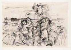 Bruno Krauskopf (Marienburg/Westpreußen 1892 - 1960 Berlin) 'Zwei Liebespaare in Landschaft', um
