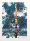 Christian Ludwig Attersee (Pressburg 1940 - lebt u. arbeitet im Burgenland und in Wien) 'Fischwald',