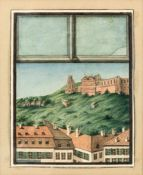 Amalia Benedicks (1811-1837) 'Vier Stadtansichten', um 1830 Miniaturmalereien in Aquarelltechniken