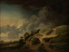Maler des 18. Jahrhunderts 'Landschaft', wohl 18. Jahrhundert Öl auf Leinwand. 36,0 x 48,0 cm.