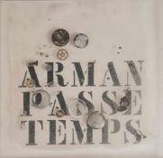 Fernandez Arman (Nizza 1928 - 2005 New York) 'Passe Temps', 1971 Limitiertes Multiple aus einem Buch
