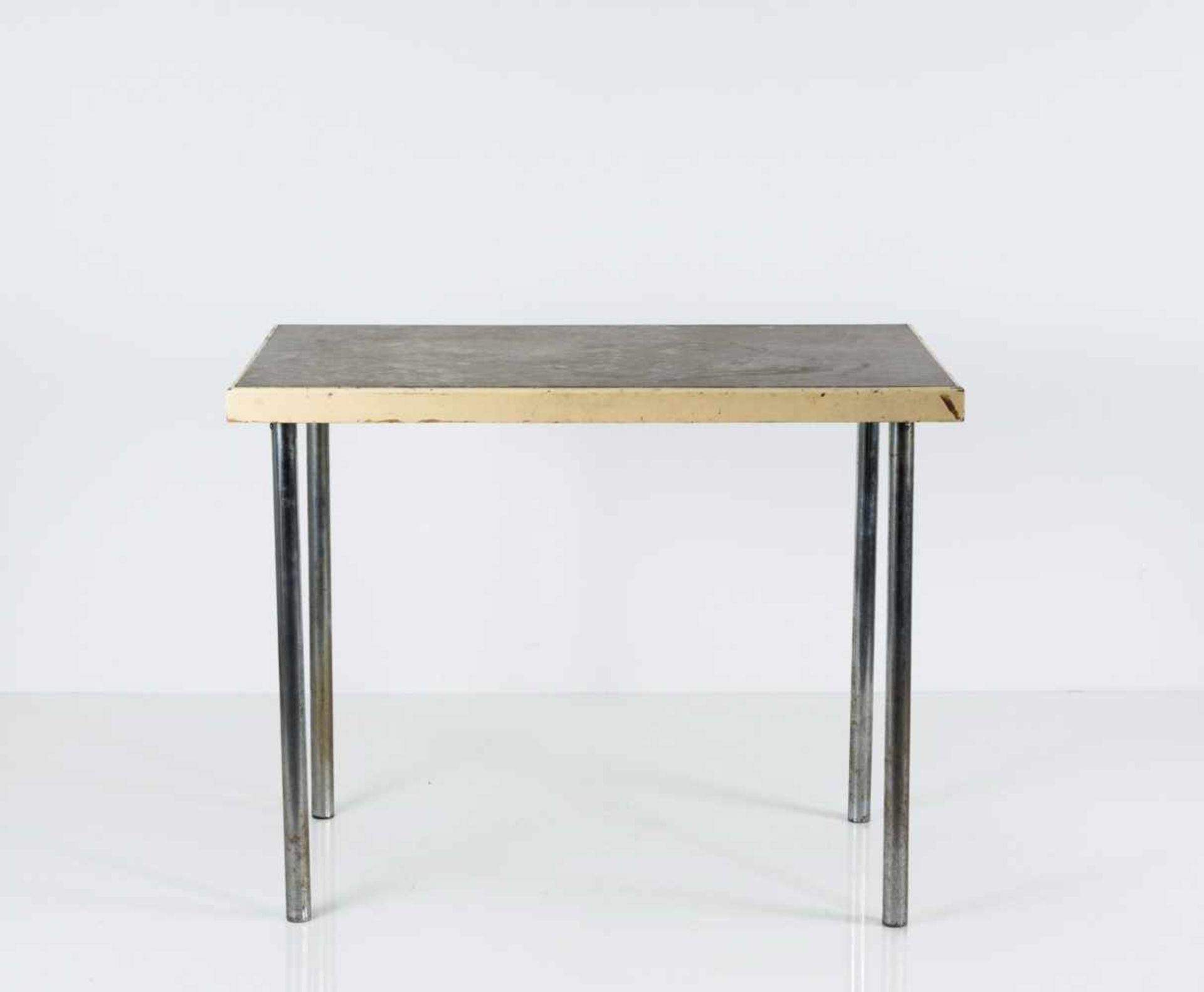 Marcel Breuer (zugeschrieben) Tisch 'B 14', um 1928 H. 76 x 97 x 62 cm. Wohnbedarf, Zürich ( - Bild 3 aus 3