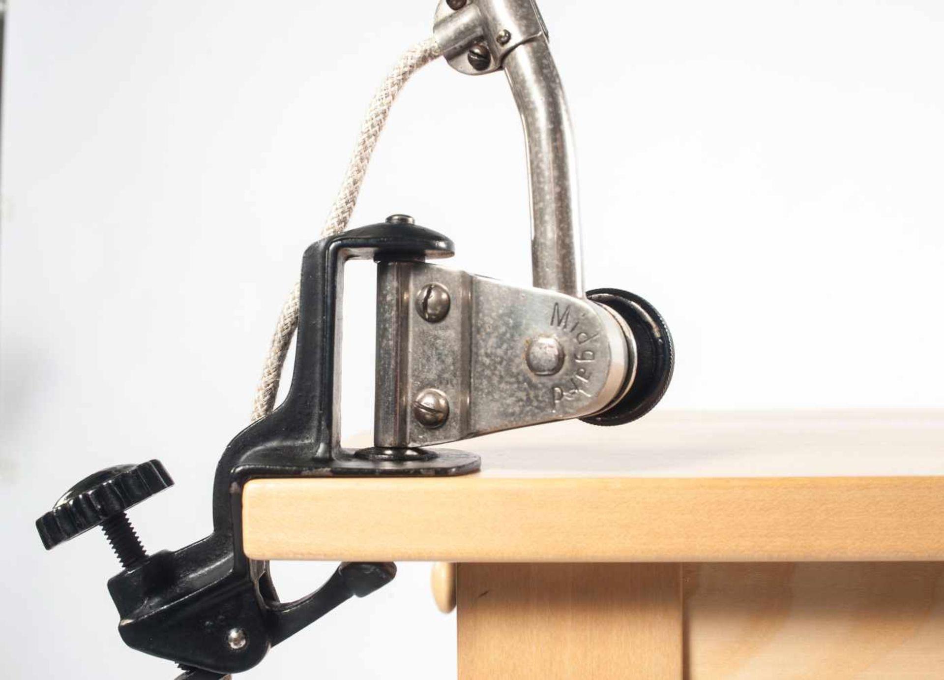 Curt Fischer Arbeitsleuchte 'Midgard 113', 1926 H. 86 cm, Dm. 17,5 cm. Industriewerke Auma; - Bild 3 aus 4