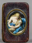 After POMPEO BATONI (1708-1787) Italian, Meditation of the Penitent Magdalene Enamels on porcelain,