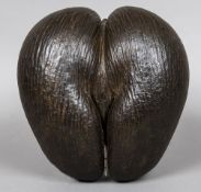 A well-formed and balanced 19th century coco de mer (Lodoicea Maldivica) Typically formed with good