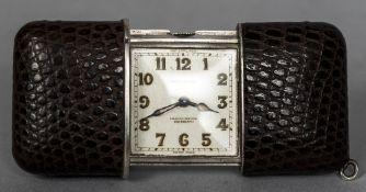 A Movado silver cased Ermeto chronometer purse watch,
