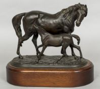 After PIERRE-JULES MENE (1810-1879) French Mare and Foal Bronze,