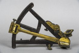 A 19th century brass mounted ebony octant Of typical form;