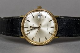 An Omega Automatic de Ville gentleman's wristwatch The circular dial with batons and date aperture.