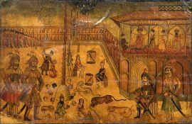 INDO-PERSIAN SCHOOL (18th/19th century) Beheading of Westerners and Others Before the Emperor in a