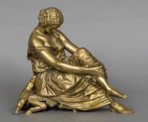 JEAN-JACQUES PRADIER (1790-1852) French Sappho Gilt bronze Signed and with Susse Freres foundry