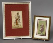 An antique Indo-Persian miniature portrait of a nobleman Watercolour on laid paper;