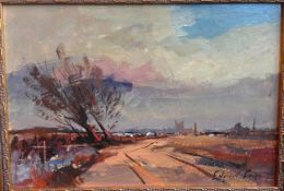 After EDWARD BRIAN SEAGO (1910-1974) British, Country Landscape, Oil on board, Bears signature.