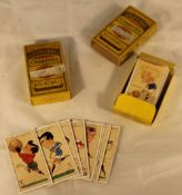 Two packs of cigarette cards