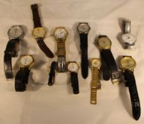 A quantity of wristwatches