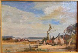 After EDWARD BRIAN SEAGO (1910-1974) British, Cottages in a Rural Landscape, Oil on board,