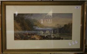 ENGLISH SCHOOL (19th century), River Landscape, watercolour, unsigned,