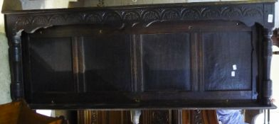An 18th century oak panel
