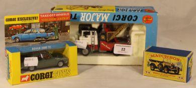 A boxed Corgi Major Toys recovery vehicle,