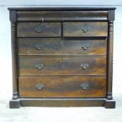 A Victorian mahogany Scottish chest of drawers