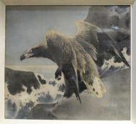 Eagle on silk print