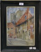 ENGLISH SCHOOL (19th/20th century), Lincoln Cathedral Twin Towers, oil on canvas,