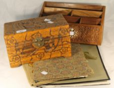A carved stationary box,