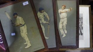 A quantity of cricketing lithographs