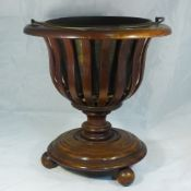 A Dutch mahogany coal bucket