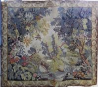 A needlework tapestry wall hanging