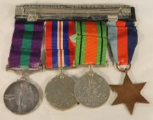 A group of four WWII medals,