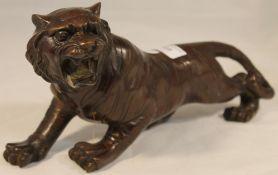 A bronze figure of a tiger