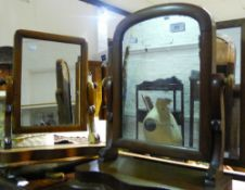 Three Victorian toilet mirrors