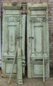 A pair of 19th century Continental painted pine doors
