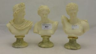 Three models of classical busts