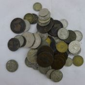 A bag of assorted coins,