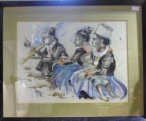 An Eastern watercolour,