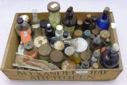 A quantity of chemist bottles etc,