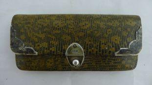 A silver mounted purse