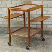 A vintage folding tea trolley