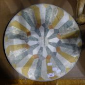 A specimen marble table top