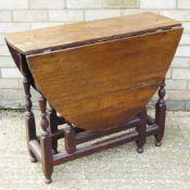 An oak gate leg table