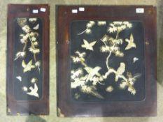 Two shibyama panels