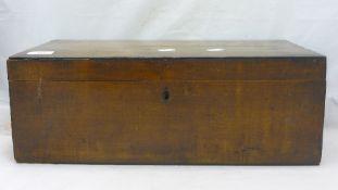 A 19th century mahogany writing slope