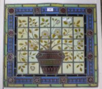 A Victorian leaded stained glass panel
