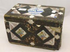An 18th/19th century tiled box