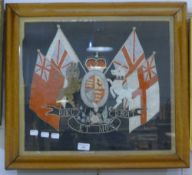 A Royal coat-of-arms needlework,