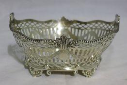 A Victorian pierced silver basket